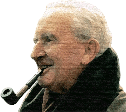 Manipulated image of J. R. R. Tolkien originally apparently from Tumblr, but you can't really tell what the source is when it comes to the Internet. Made by someone somewhere sometime being based on a scanned photo from a book that can be commonly and easily found by throwing a simple image search. I'm not doing anything wrong by using this image, you are doing wrong if you attempt to get to me in anyway because of using this image. This is foolish. Why are you reading this text anyway? Don't you have anything better to do with your life? The picture features a pipe, go find some pipeweed and learn to smoke if that is what you fancy. Just... stop wasting your time reading this text. It won't make you any smarter. Please. Go away.